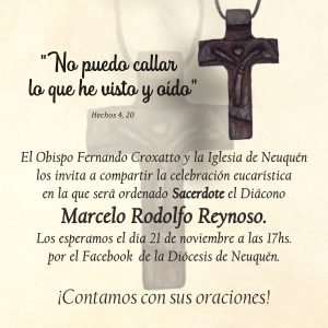 Ordenación sacerdotal de Marcelo R. Reynoso