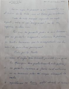 Testamento del obispo Melani