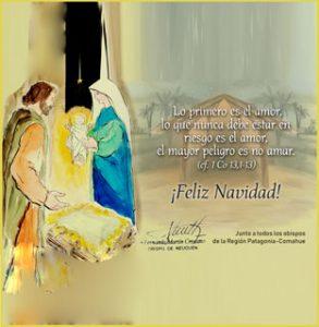 Tarjeta de Navidad del obispo Croxatto